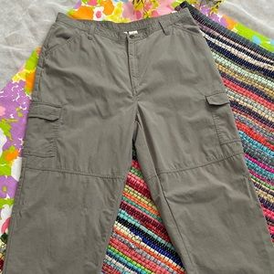 VINTAGE ARMY GREEN HIGH WAIST CARGO PANTS size 16